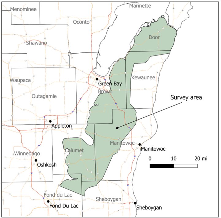 USGS to Conduct Helicopter Survey of Northeast Wisconsin Bedrock